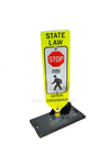 Pedestrian CrossWalk Sign PNG-0155 WithOut Street