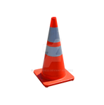 Orange Traffic Cone PNG Stock Photo 0022 copy