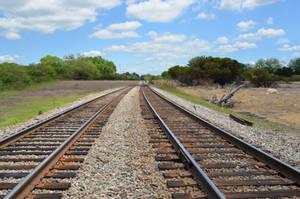 Railrod Tracks Premade Background Stock 0144 by annamae22