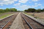 Railrod Tracks Premade Background Stock 0144