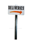 DELIVERIES PNG Sign Stock Photo 0017