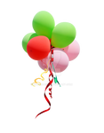 Ballon with Ribbons PNG Stock Photo 0189