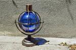 Glass Hurricane Lamp Stock Photo 0160