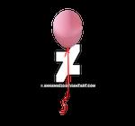 Ballon Single with Ribbon PNG Stock copy 3