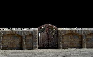 Iron Stone Gate at Beach PNG Stock Photo 0073 by annamae22