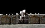 Iron Stone Gate at Beach PNG Stock Photo 0073