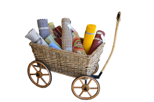 Wicker Pull Cart Stock PNG copy by annamae22