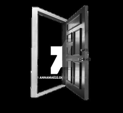 Open Door PNG Stock black n White 38
