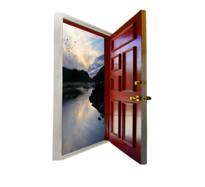 Open Door PNG With Added Landscape 493