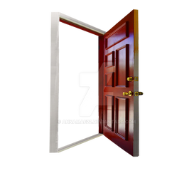 Open Empty Door PNG Stock 047
