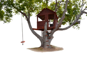 Tree House with Swing PNG Stock Photo 0179 by annamae22