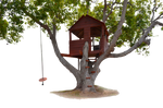 Tree House with Swing PNG Stock Photo 0179