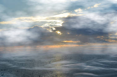 Sunset Oceans Mist Premade Background Stock FAVE