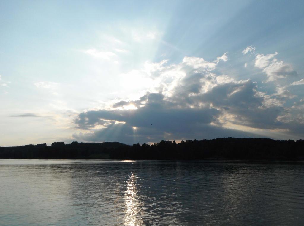 Lake Sunet Landscape Stock With Bird 0462 by annamae22