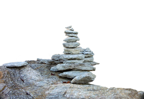 Stacked Rocks Rock Cairns PNG Stock Photo 0127