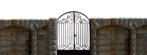 Iron and Stone Gate PNG Stock Photo 0073