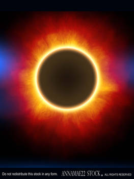 Solar Eclipse with Flare Abstract Sky Stock Photo