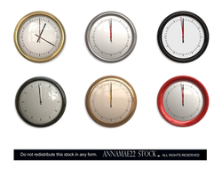 Round Wall Clock PNG Stock  0160- Credit to Meyend
