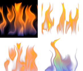 Fire-Flames Abstract Collection PNG Stock Photo 05