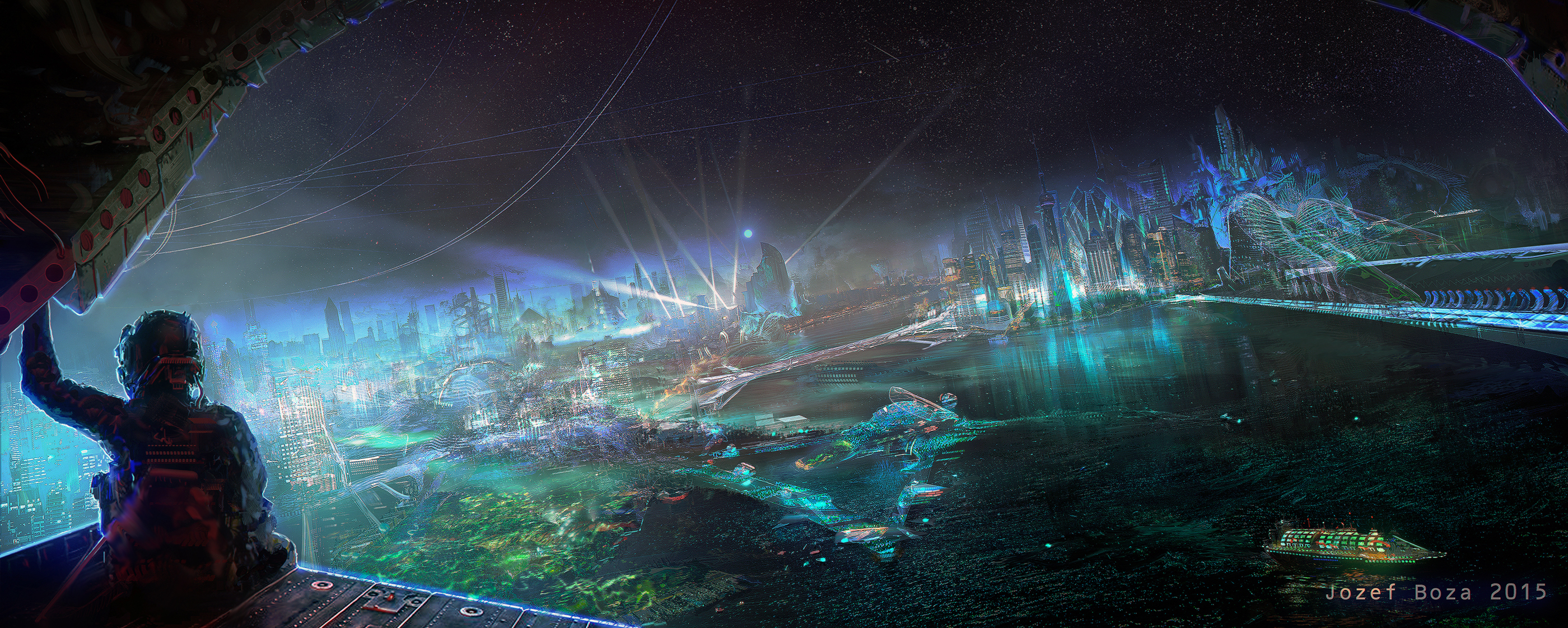 Shanghai 2177 concept art 4 Nanits Chronicles 2015 by RoeeateR