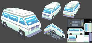 Low poly Van