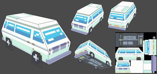 Low poly Van by Leyto