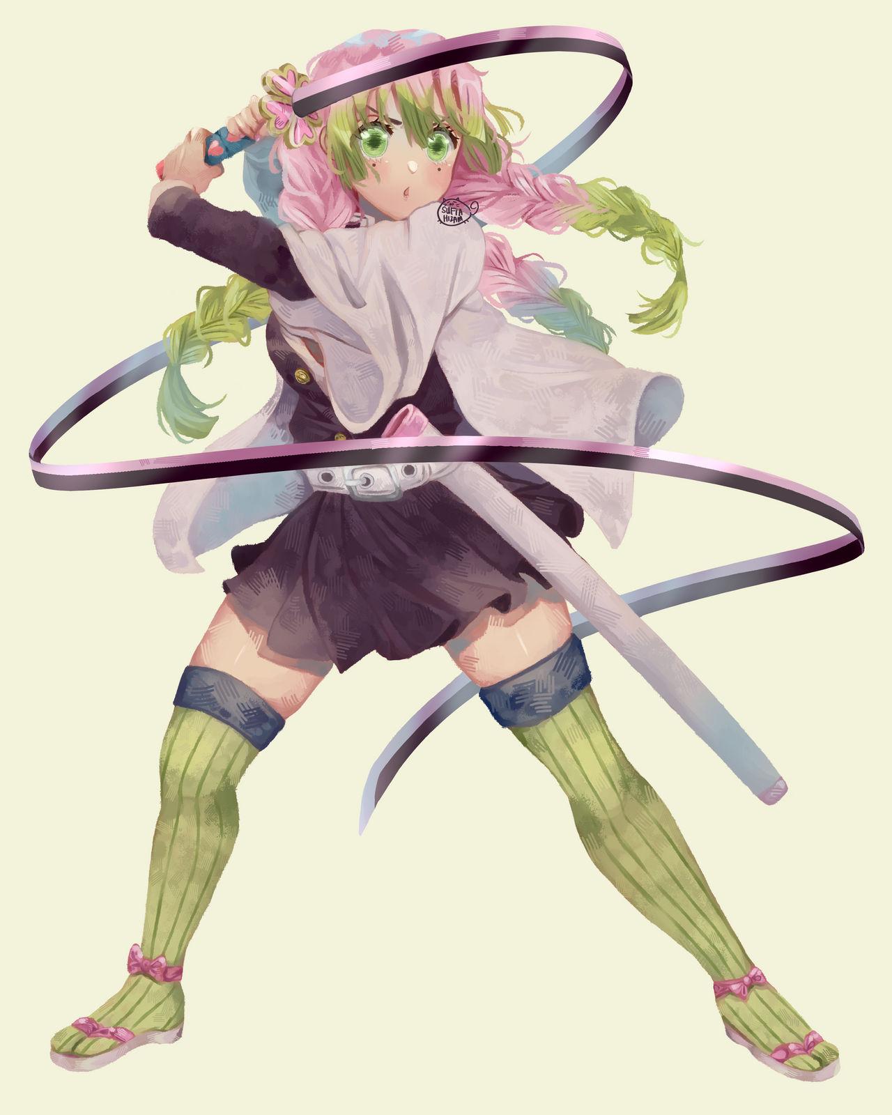 Kanroji Mitsuri Sword : I decided to make mitsuri's sword out of cardboard.