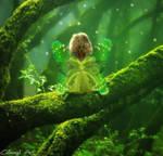Go green contest entry - Forest Fairy by Calhingil