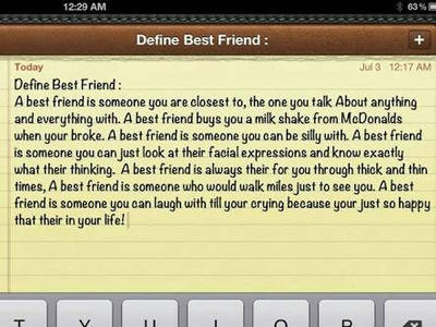 Definition essay friend