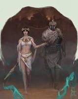 Cleopatra and Mark Antony by TheGreaterDesign