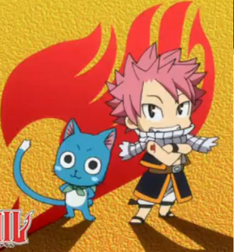 chibi happy and natsu fairytail by brinababy66 on deviantart
