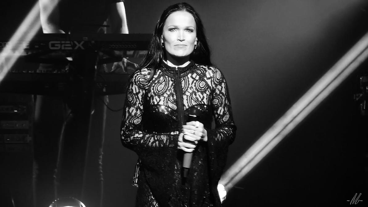 Tarja's staring at us bw1 by TheHumanoidTyphoon86