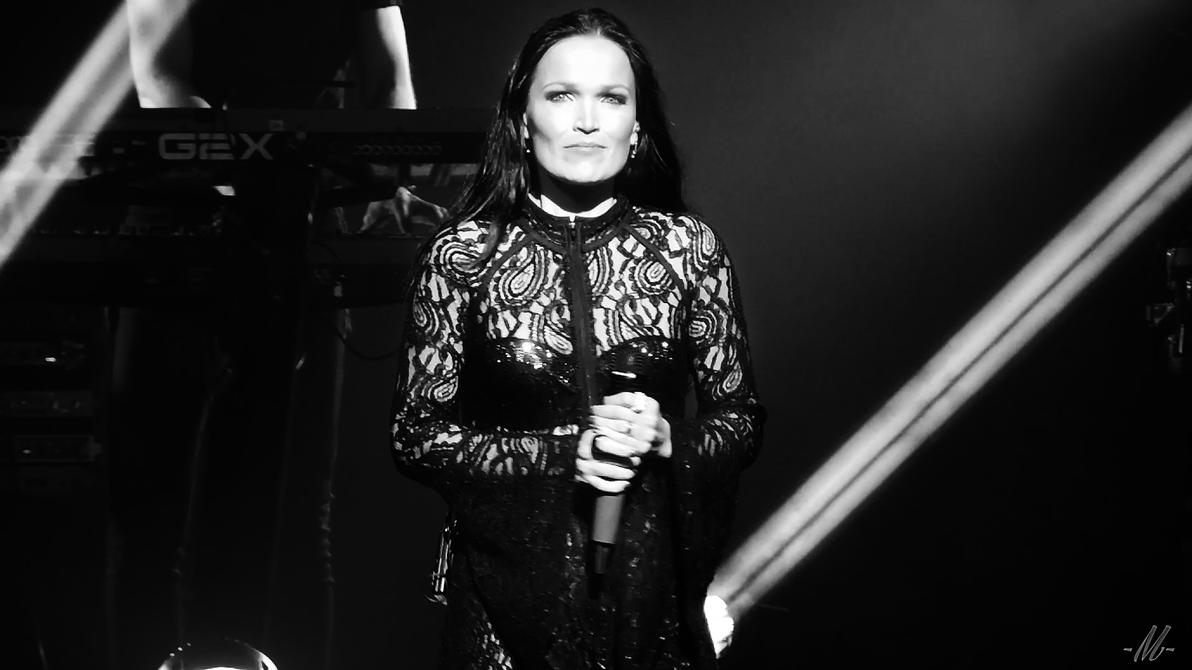 Tarja's staring at us bw2 by TheHumanoidTyphoon86
