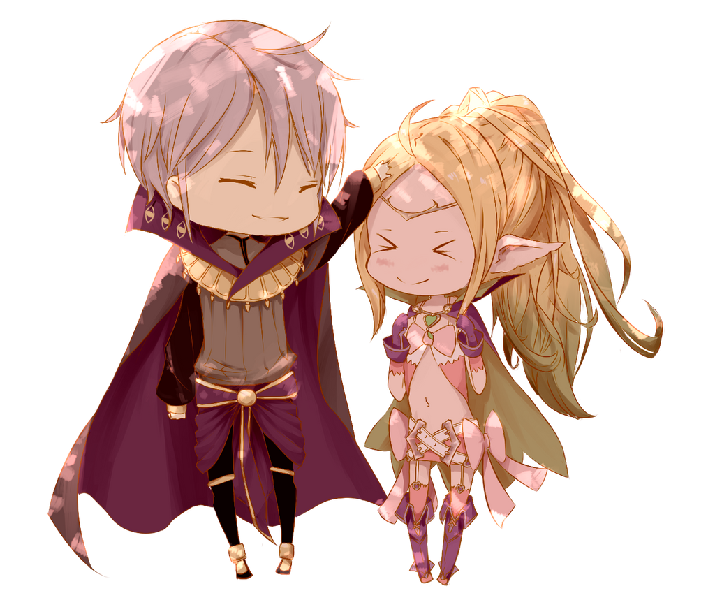 Chibi commission :: Nowi and Henry by ReroReroCandy