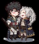 chibi commission :: Lon'qu and avatar