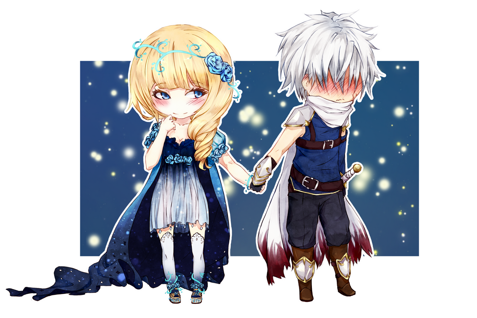 chibi commission astraeid and knight by reropumpkin on deviantart