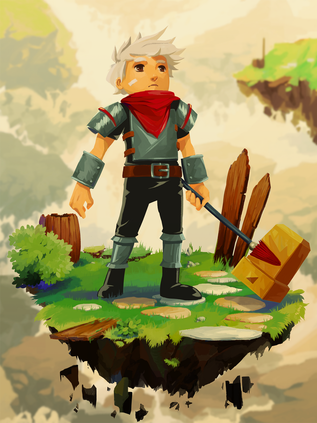 Bastion fanart :: the lonesome Kid by ReroPumpkin on DeviantArt