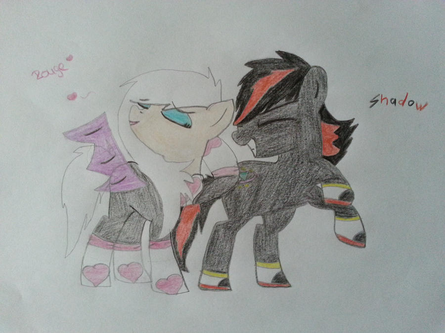 Shadow and Rouge as a pony by ShadowandEspio1 on DeviantArt