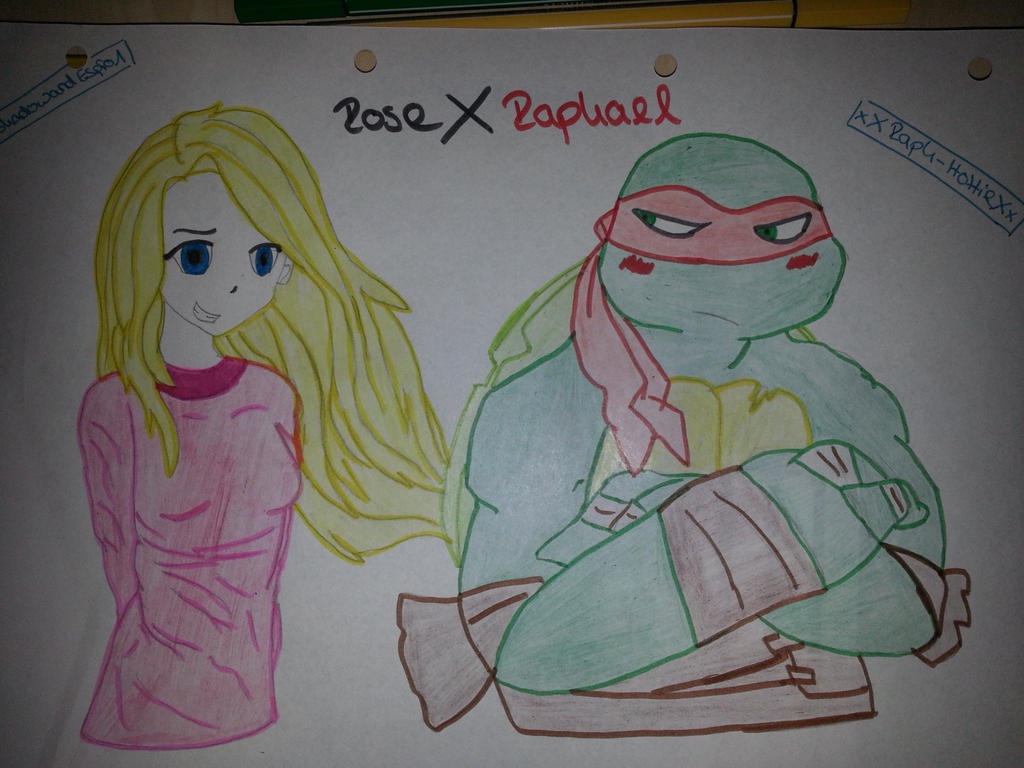 Rose and Raphael by ShadowandEspio1