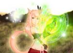 Final Fantasy XIV:A Realm Reborn. Miqo'te Scholar