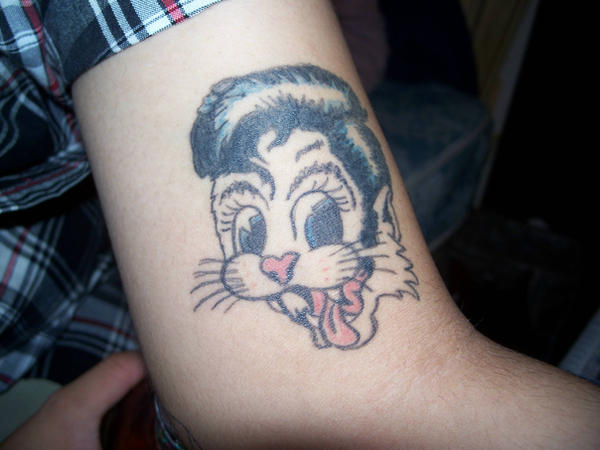 carlos's stray cat tattoo by paintchips86