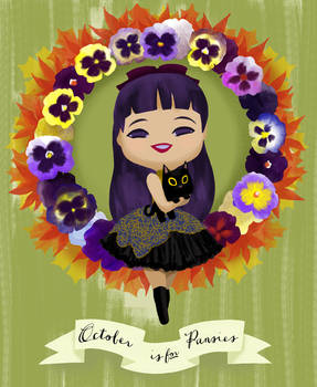 October is for Pansies