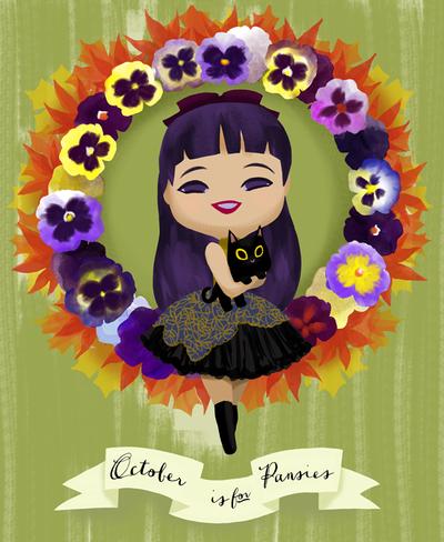 October is for Pansies by Ikupoo