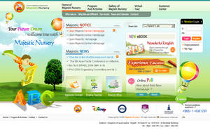 Kids school web design by ashiqoha