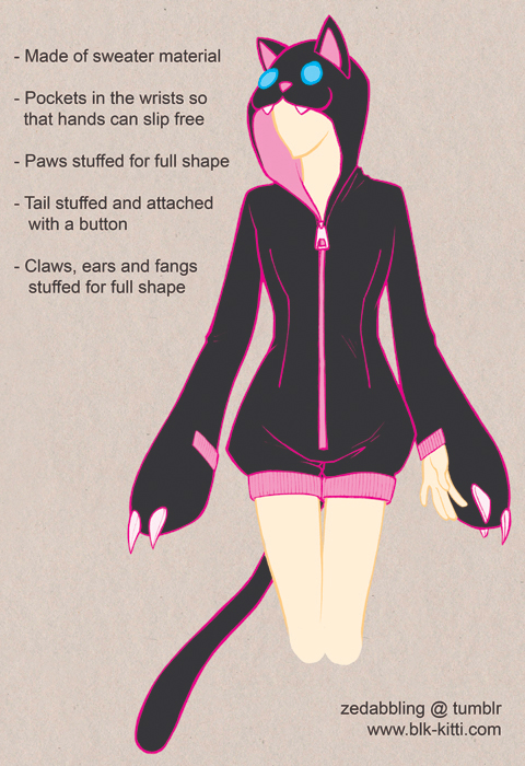 Clothing Design - Cutesy Kigurumi by blk-kitti