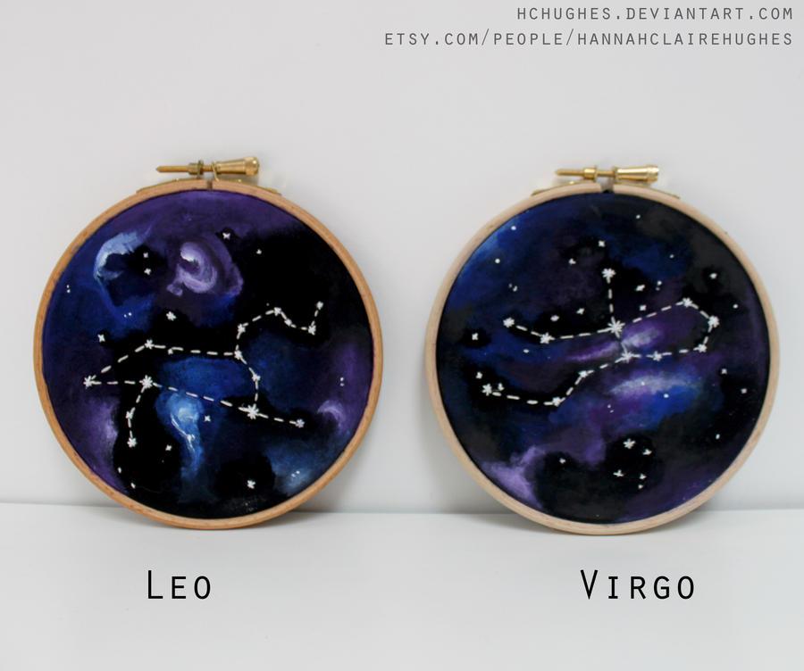 Leo + Virgo hoops by HCHughes