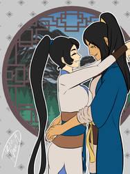 Flirty Hug by draw2much