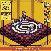 Persona 4 P(ixel) - Pixel mockup by Paulo60379