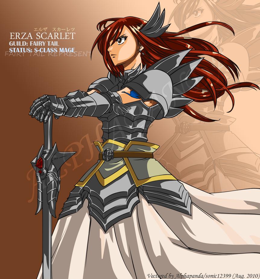 Erza Scarlet Vector By Sonic12399 On DeviantArt