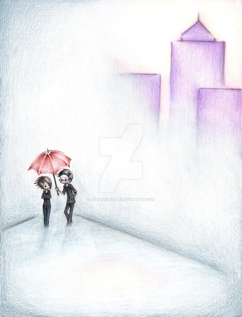 Your Red Umbrella by PaperShinigami